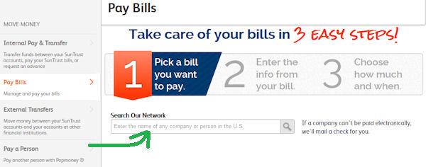 Pay Bills Funktion