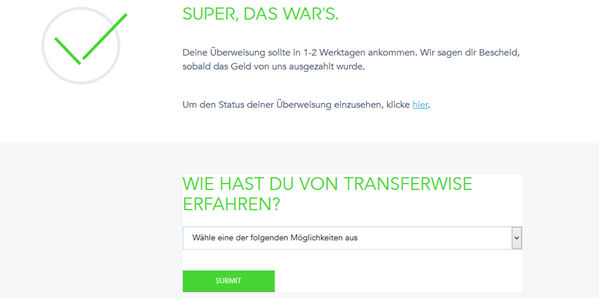 TransferWise fertig