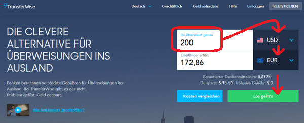Transferwise Transfer Money Usa Germany