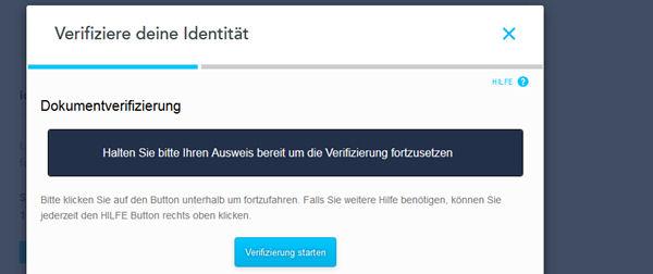 Verifiziere die Identität bei TransferWise