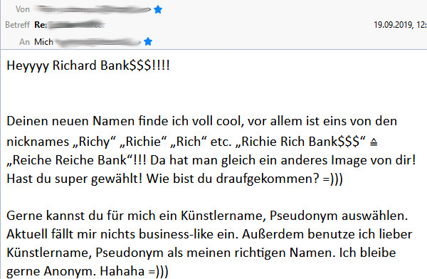 Feedback Richard Bank$
