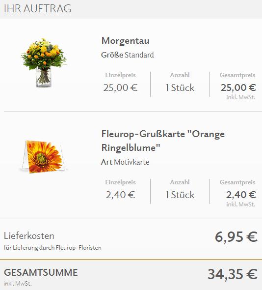 Fleurop Strauß und 35 Euro