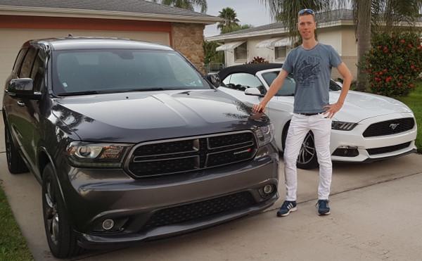 Gregor und sein Mietwagen in Florida