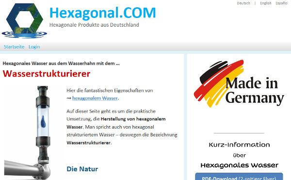 Hexaongal.com Webseite
