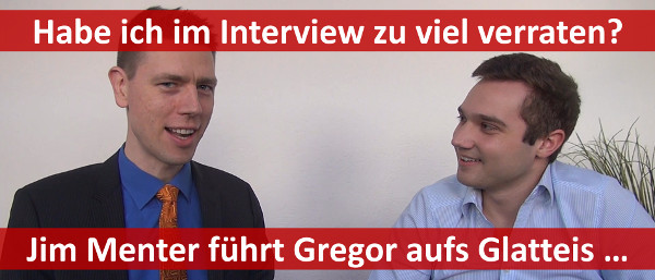 Jim Menter interviewt Gregor vom Aufsteiger-Training