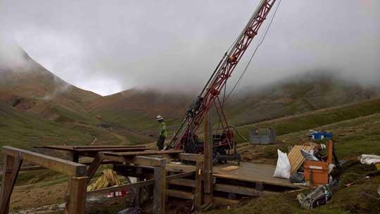 Copper Bank Beginn der Bohrarbeiten