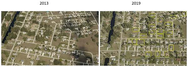Vergleich der Häuser im Wasseranschlussgebiet Cape Coral