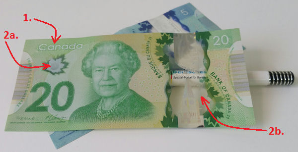 20 CAD bank note