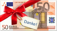 50 Euro als Dankeschön