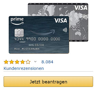 Amazon Visa Card beantragen