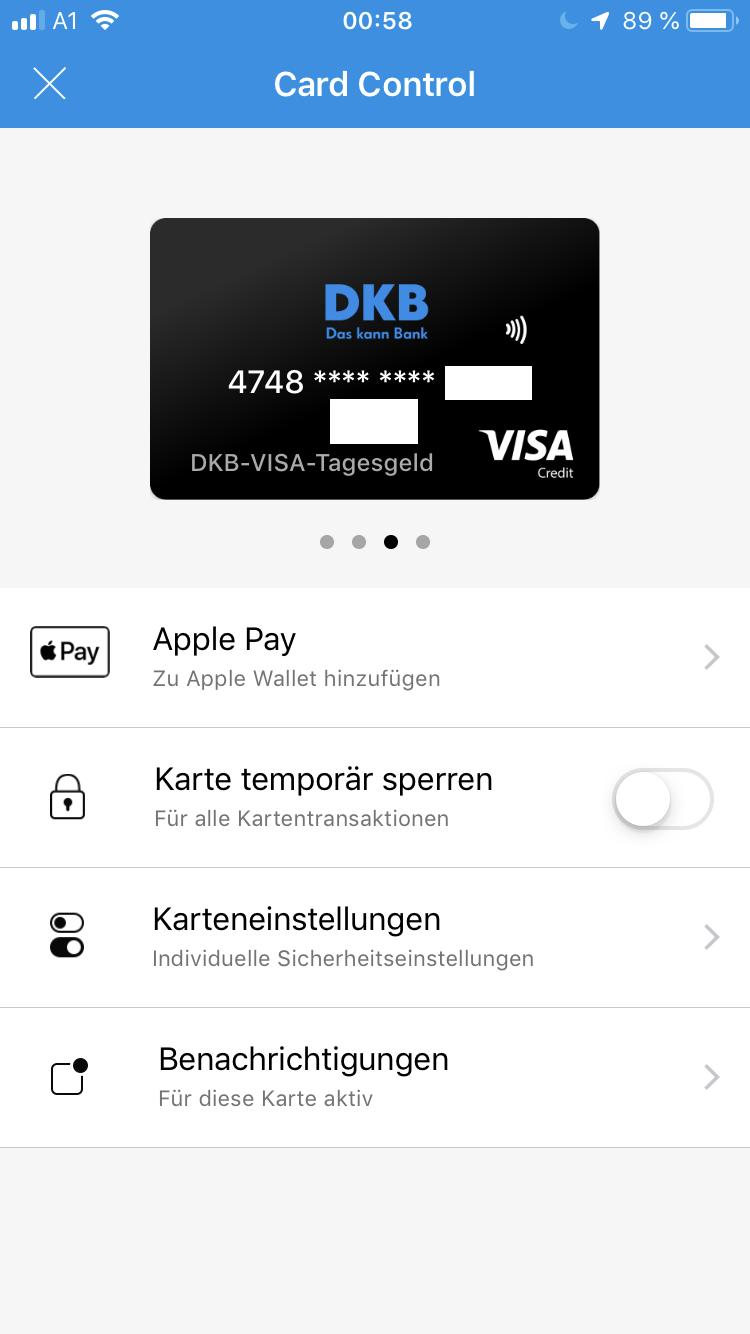 Apple Pay DKB Anleitung 1