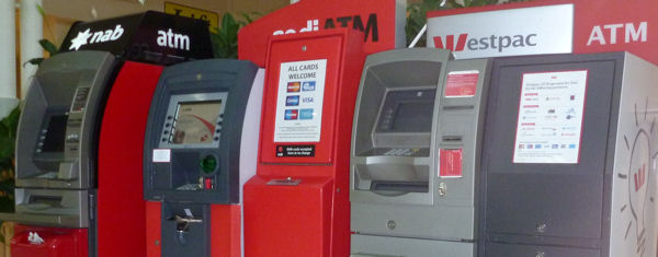 ATMs in an Australian shopping center