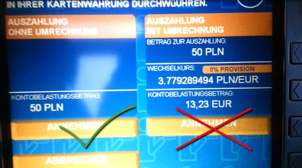 Geldautomat von Euronet