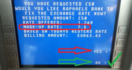 Monitor vom Abzocke-ATM