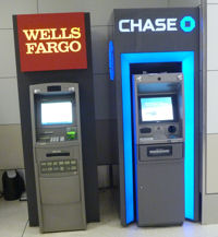 ATMs by Wells Fargo and Chase