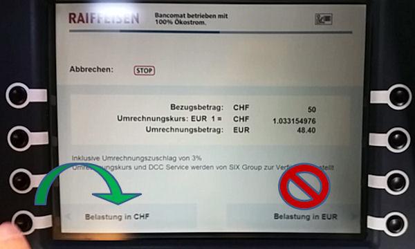 Abzocke am Schweizer Bancomaten