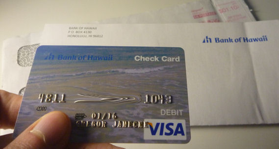 Debit Card der Bank of Hawaii