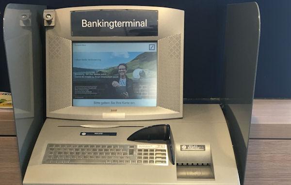 Bankingterminal der Norisbank