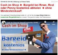 Cash im Shop