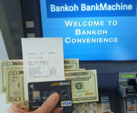 Comdirect Visa Card am Bankoh ATM