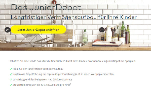 Comdirect Junior-Depot