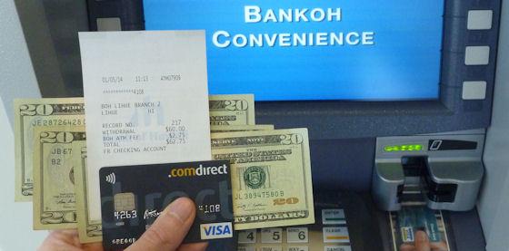 Bargeld mit der Comdirect-Kreditkarte abgehoben