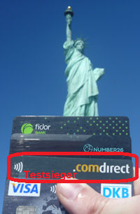Comdirect credit card is the test winner