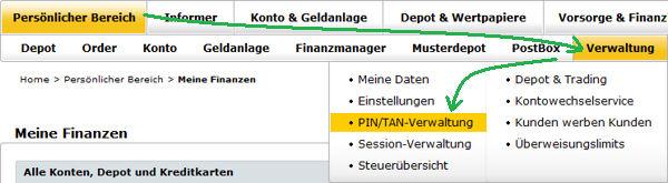 Deutsche bank online banking pin vergessen