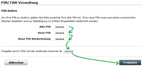 Comdirect Zugangsnummer ändern