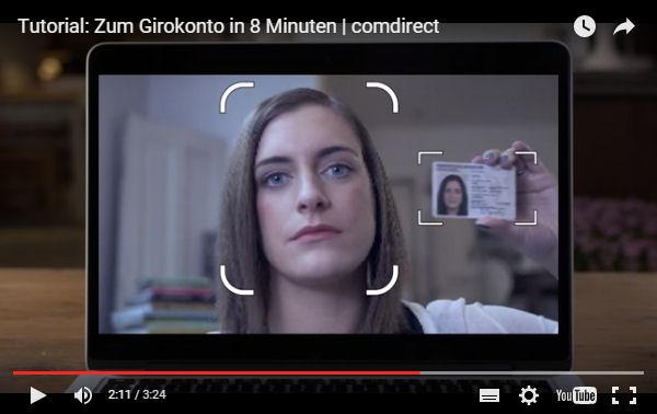Comdirect Girokonto sofort mit VideoIdent-Verfahren eröffnen
