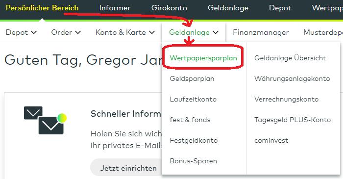 Comdirect Wertpapiersparplan
