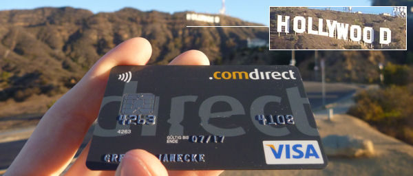 Comdirect Visa card in Hollywood