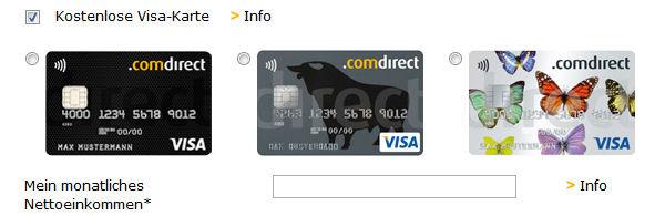 Comdirect Visa Card beantragen