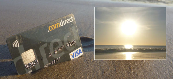 Comdirect Visa Card on vacations