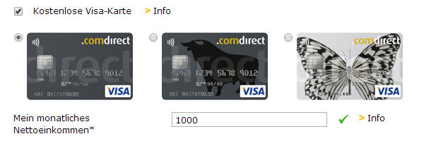 Comdirect Visa-Karte beantragen