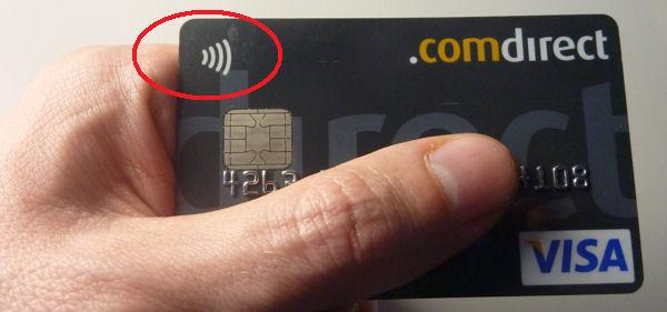 Comdirect Visa Card mit NFC
