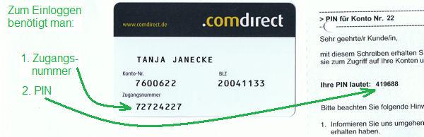 Comdirect Online Banking Zugangsnummer