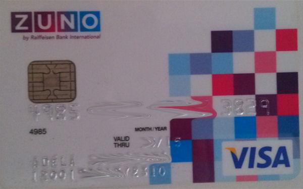 Zuno Visa Card