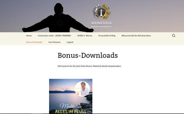 Daniel Weinstock Bonus