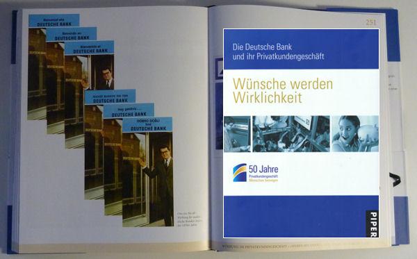 Werbeflyer für die Deutsche Bank in Fremdsprachen