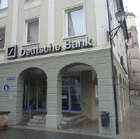 Filiale der Deutschen Bank in Memmingen