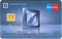 bank card, Deutsche Bank