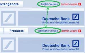 Language change at Deutsche Bank