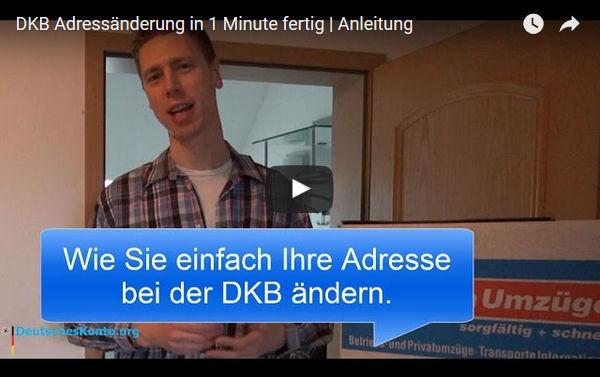 DKB Adresse ändern