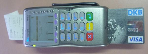 DKB: bargeldlose Kartenzahlung