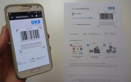 DKB Cash im Shop App offen