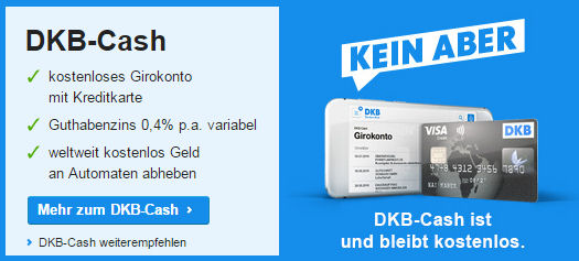 DKB Girokonto bleibt kostenlos