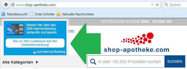 DKB Broswer-Plugin fürs Online-Cashback.