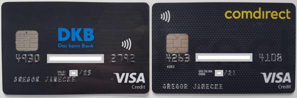 DKB und Comdirect Kreditkarten