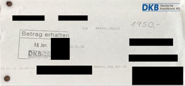 einzahlung bank